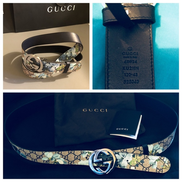 89e1a6af71a NEW AUTH GUCCI Men s GG Supreme Blooms Belt